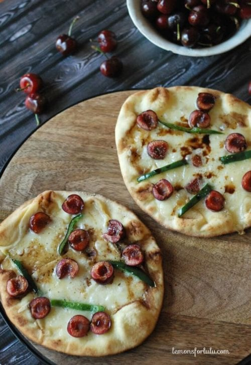 Grilled Cherry Brie Pizza by Lemons for Lulu