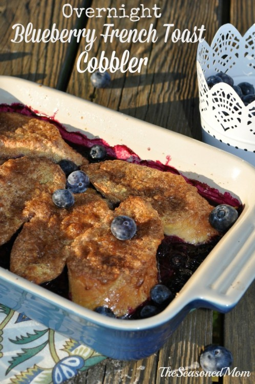 Overnight Blueberry French Toast Casserole by The Seasoned Mom