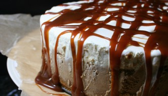 Caramel Macchiato Ice Cream Cake | Bourbon and Brown Sugar