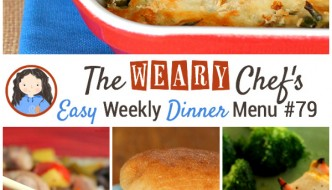 Easy Weekly Dinner Menu #79 - Healthy Nachos, Slow Cooker Sweet and Sour Pork, Bacon Ranch Burgers, Hasselback Chicken, and lots more!
