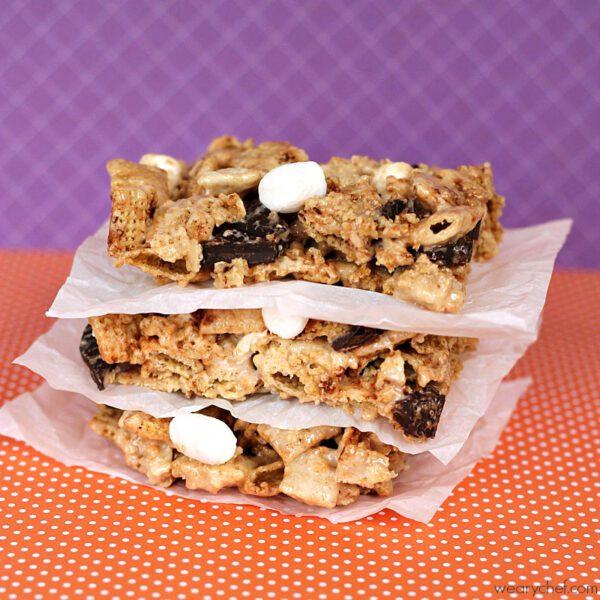 No Bake Cinnamon S'mores Bars - An easy, gluten free dessert! - wearychef.com