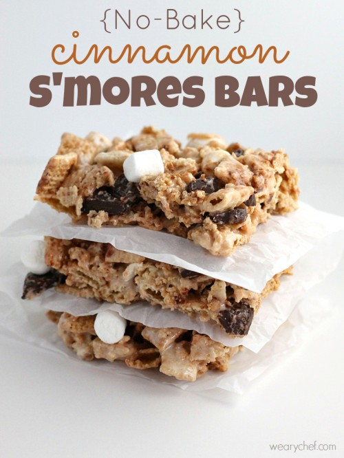No Bake Cinnamon S'mores Bars - An easy, gluten free dessert! - wearychef.com