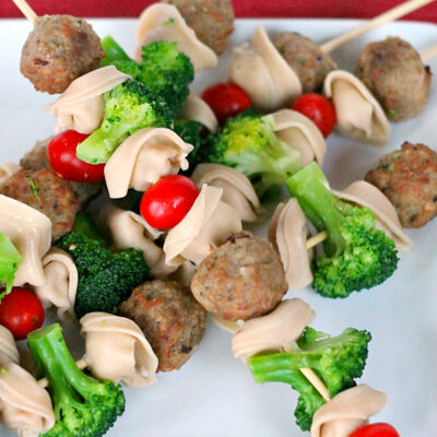 Meatball and Pasta Skewers: A Kid Friendly Dinner!
