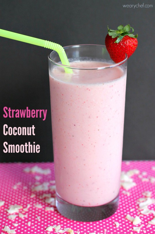 Strawberry Coconut Smoothie - Julie's Eats & Treats