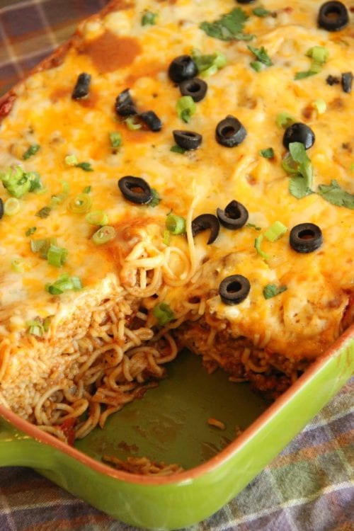 Taco Spaghetti Bake | Diary of a Recipe Collector
