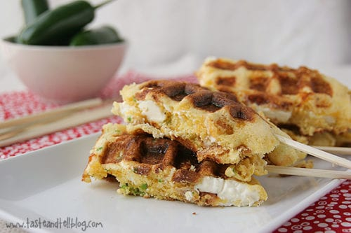 Jalapeno Popper Corn Dog Waffles | Taste and Tell