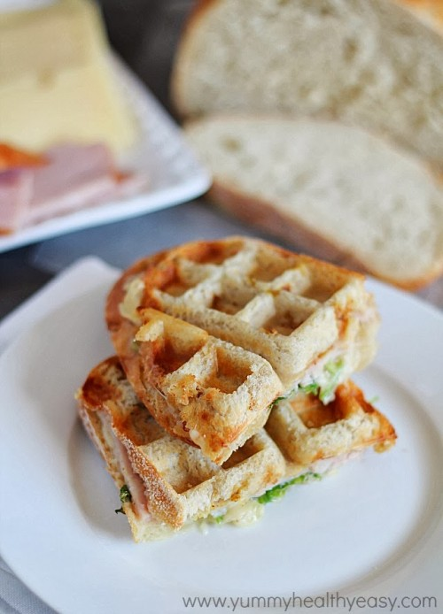 Turkey and Swiss Waffle Panini | Yummy Healthy Easy