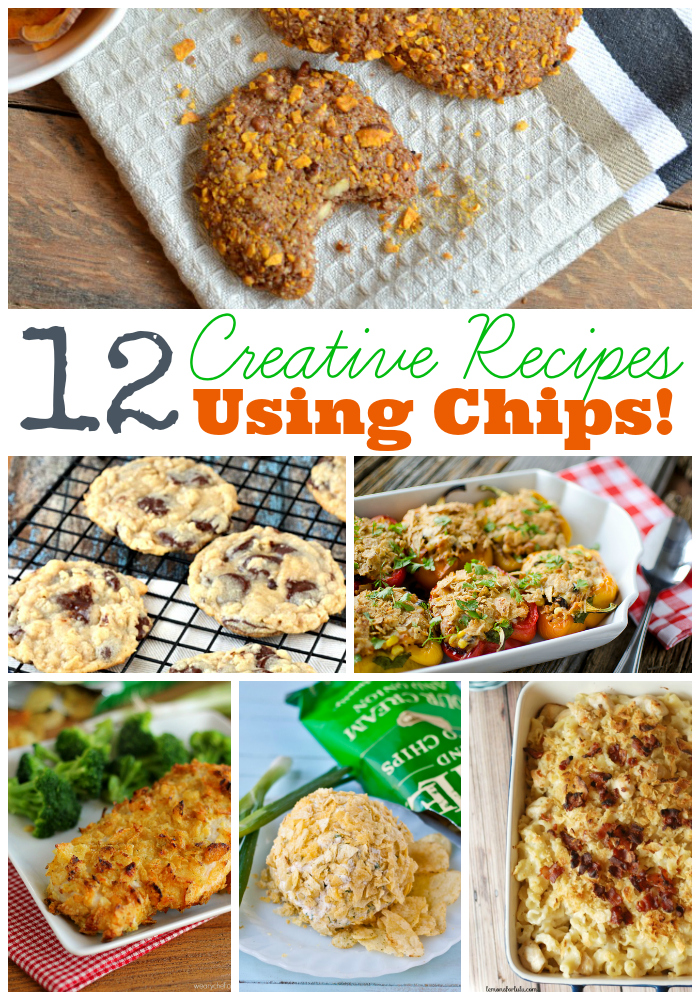 12 Creative Recipes Using Chips - Cookies, Casseroles, Sandwiches and more show off clever ways to use potato and corn chips! - wearychef.com