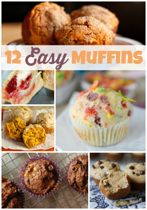 12 Easy Muffins - You will love these quick and easy breakfast recipes! - wearychef.com