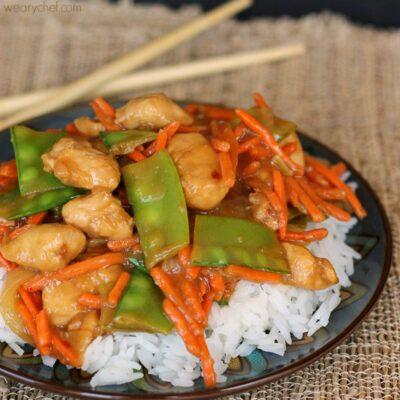 Ginger Soy Chicken over Jasmine Rice