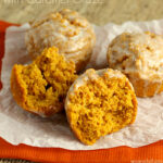 Pumpkin Muffins with Caramel Glaze