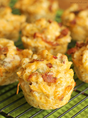 Ranch Bacon Mac and Cheese Cups - Perfect for tailgating, lunchboxes, or potlucks!