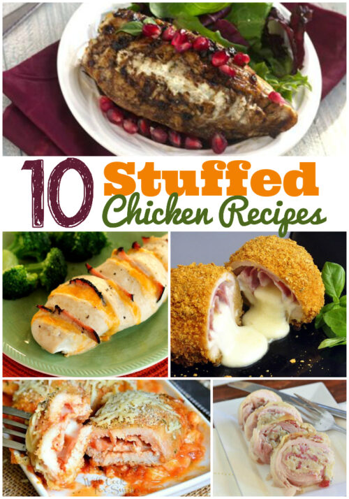 10 Stuffed Chicken Recipes - These delicious recipes are just right for guests for family dinners! - wearychef.com