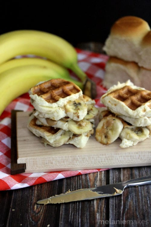 The King's Waffled Peanut Butter and Banana Sliders   Melanie Makes