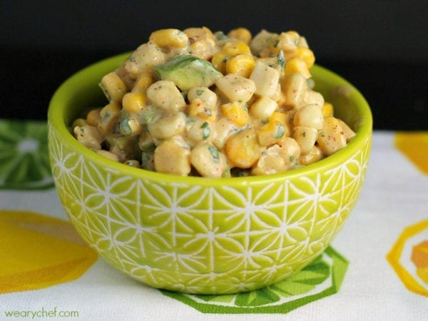 This quick and easy avocado corn salsa is perfect for dipping or ...