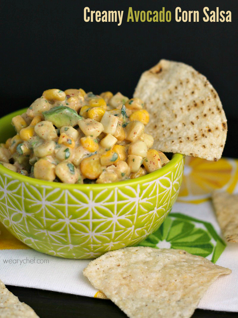 Tuna Tacos with Creamy Avocado Corn Salsa - The Weary Chef