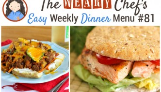 This easy weekly dinner menu focuses one easy back to school recipes like Chicken Tostadas, Slow Cooker BBQ Pizza, Gnocchi in Tomato Cream Sauce, and lots more!