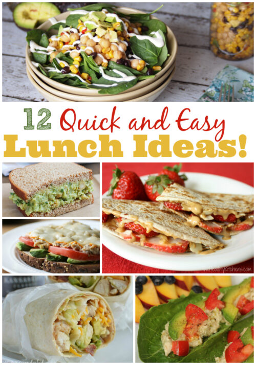 12 Quick and Easy Lunch Ideas - Forget boring old ham and cheese. These easy lunch ideas will perk up your midday meal!