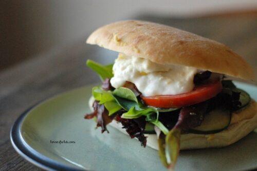 Greek Vegetarian Sandwiches | Lemons for Lulu