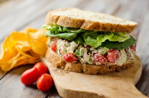 Light Ranch BLT Chicken Salad Sandwich | Krafted Koch