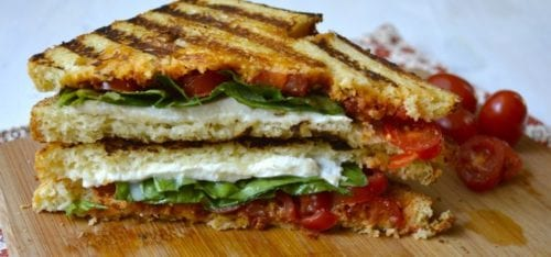Fresh Tomato Basil and Mozzarella Panini | Maebell's