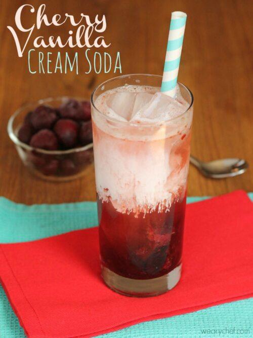 Cherry Vanilla Cream Soda by The Weary Chef