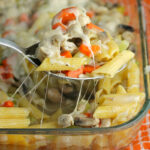 Chicken Noodle Soup Casserole - All the comfort of chicken noodle soup in an easy to transport and serve casserole!