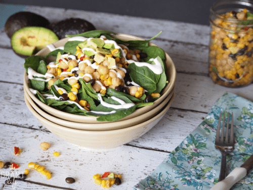 Healthy Chipotle Chickpea Salad | The Grant Life