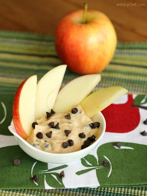 Peanut Butter Chocolate Yogurt Fruit Dip - This 3-ingredient recipe is perfect for an afterschool snack or party food!