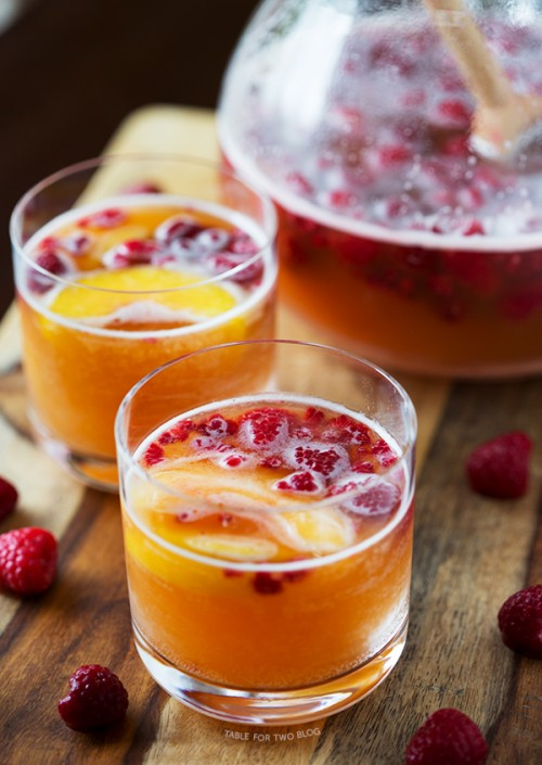 Raspberry Peach Prosecco Punch | Table for Two