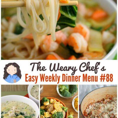 Easy Weekly Dinner Menu #88: One-Pot Recipes