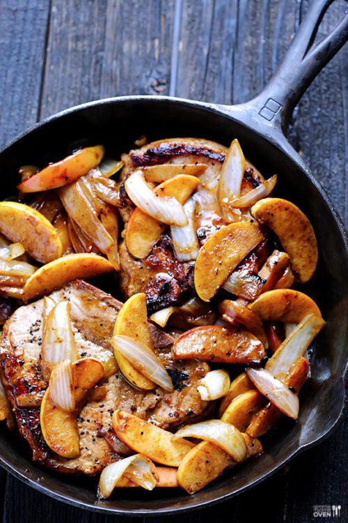 Apple Cinnamon Pork Chops   Gimme Some Oven