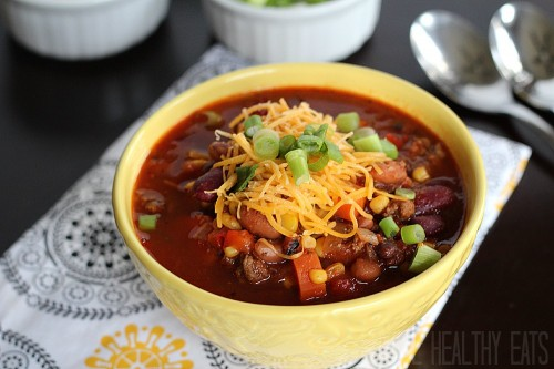 Three Bean and Beef Chili | Joyful Healthy Eats
