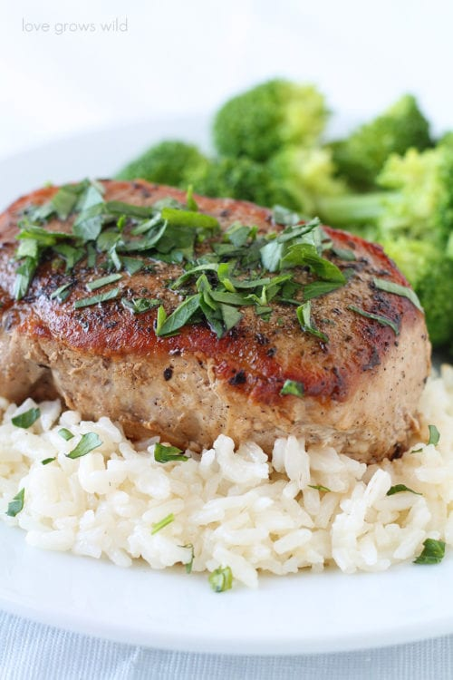 Herb Rubbed Pork Chops | Love Grows Wild