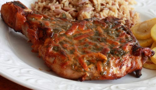 Honey Mustard Dilly Cheese Pork Chops | The Daring Gourmet