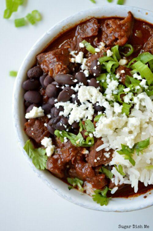 Mole Chile con Carne with Kahlua | Sugar Dish Me