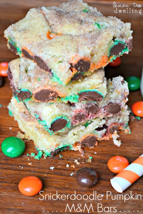 Snickerdoodle Pumpkin M&M Bars | Lemon Tree Dwelling