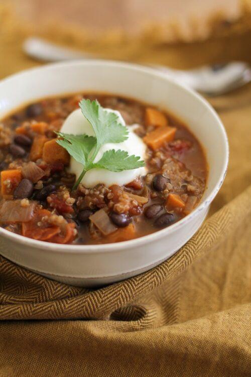 Sweet Potato Black Bean Quinoa Chili   The Roasted Root