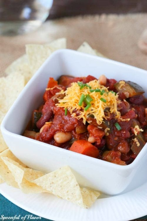 Three-Bean Vegetarian Chili | Spoonful of Flavor