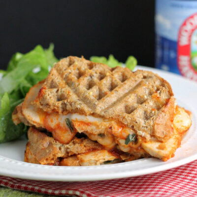 Caprese Grilled Cheese Sandwich with Chicken
