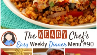 This week's dinner menu features a few Mexican recipes and more including Mexican Barley Casserole, Easy Black Beans and Rice, Tuna Melt Tostadas, Sloppy Joe Potatoes!
