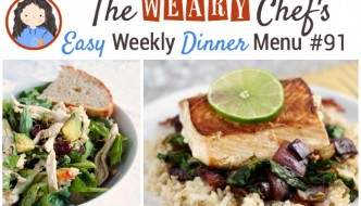 This week's easy dinner menu features Slow Cooker Beans and Rice, Chicken Potato Skins, Caprese Chicken Panini, and lots more!
