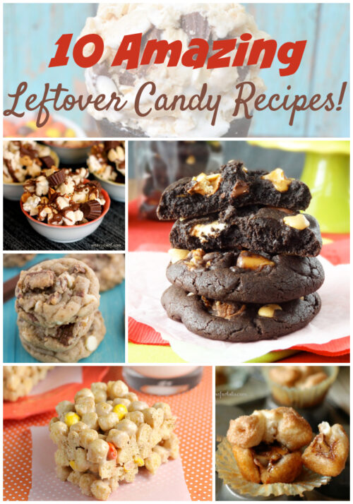 Don't miss these 10 amazing recipes using leftover holiday candy! Find cookies, bars, dip, muffins, and more!