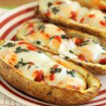 Margherita Chicken Potato Skins