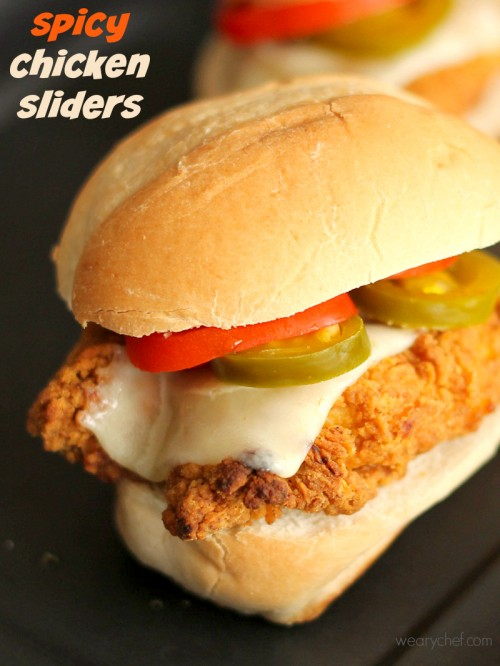 Spicy Chicken Sliders - These easy sandwiches are perfect for a quick dinner or potlucks!