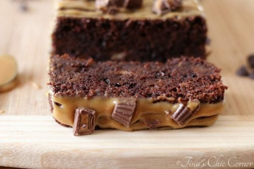 Double Chocolate Banana Bread with Peanut Butter Icing - Tina's Chic Corner