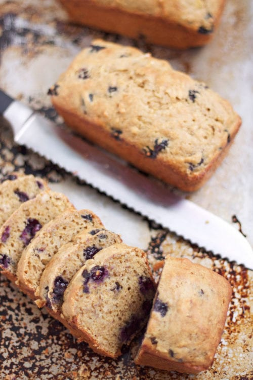 Low Fat Blueberry Pecan Banana Bread - Recipe Runner