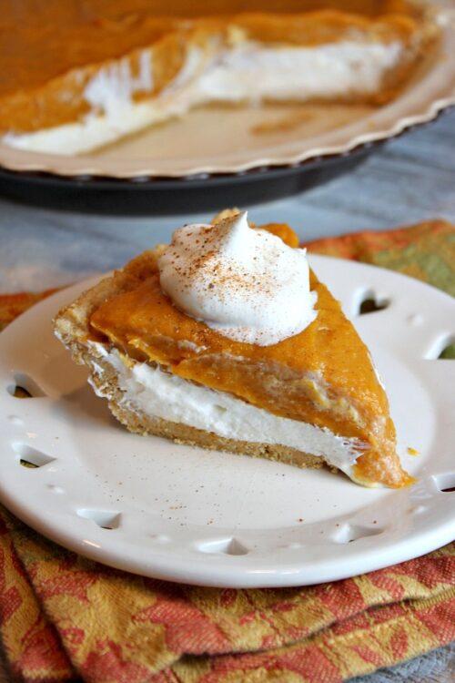 No-Bake Double Layer Pumpkin Pie   Recipe Girl