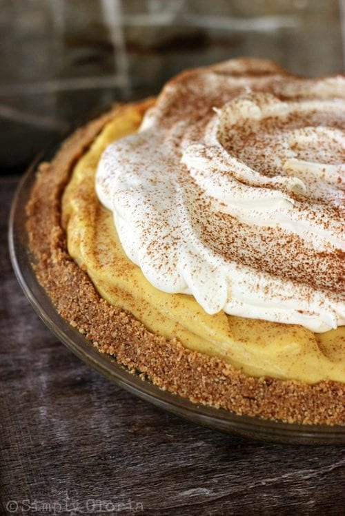 No-Bake Eggnog Pie | Simply Gloria