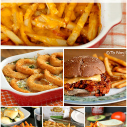 Easy Family Dinner Recipes with Frozen Fries, Potatoes and Onion Rings!